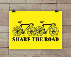 Poster Share the road A4