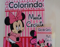 Kit colorir Minnie Rosa