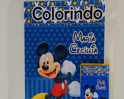 Kit colorir Mickey Azul