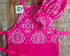 Avental Infantil Mini Chef Bandana Pink