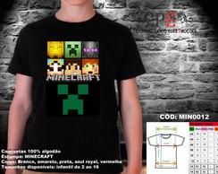 Camisetas Minecraft Faces 2