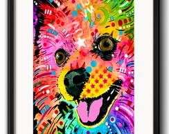 Quadro Spitz Pomerania Pop Art Paspatur