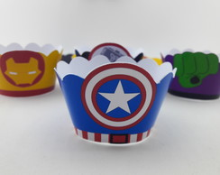 Wrapper Mini (Saia Cupcake) Vingadores