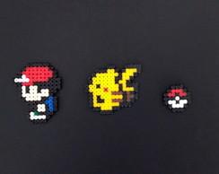 Pokemon Ash & Pikachu Hama (Preço und ) no Elo7 | Mr