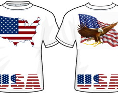 Camiseta USA - frente e costa