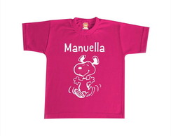 Camiseta ou Body Snoopy (Rosa)