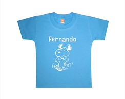 Camiseta ou Body Snoopy (Azul)