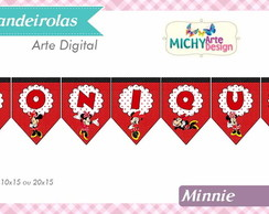 Kit Digital Bandeirolas Minnie