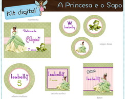 Kit digital A Princesa e o sapo | para imprimir