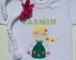 Body ou camiseta Elsa frozen