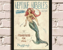 Poster com Moldura Mermaid #