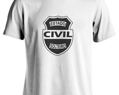 CAMISETA , ESTADO CIVIL SOLTEIRO