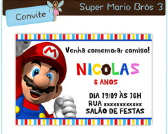 Convite Super Mario Bros | digital