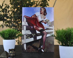 Quadro Vintage Pin-Up