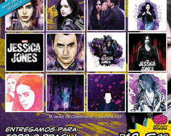 12 Imãs Decorativos 5x5 - Jessica Jones