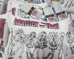 Almofada Pinte e Lave Monster High