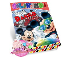 Kit Colorir Mickey + Giz de Cera