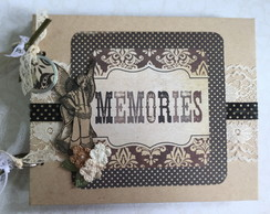 Álbum Scrapbook - Mini Álbum Memories