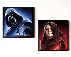 Dupla de quadros Star Wars (Dark Side)