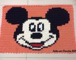 Tapete Croche Barbante Mickey Laranja