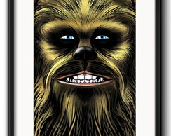 Quadro Chewbacca Star Wars com Paspatur