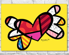 Placa Decorativa - Love Love - 40X30CM