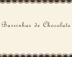 Barrinhas de Chocolate Personalizadas