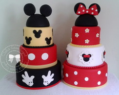 Bolos Mickey e Minnie 3 andares