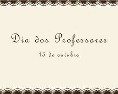 Dia do Professor 15/10