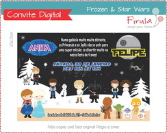Convite Digital Frozen e Star Wars