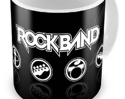 Caneca de Porcelana Rock Band