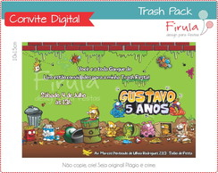Convite Digital Trash Pack