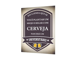 Placa MDF Como Nasce Universitário - 896
