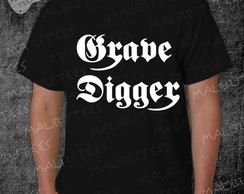 Camiseta Grave Digger Rock Roll