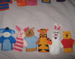 Conjunto de dedoches Turma do Pooh