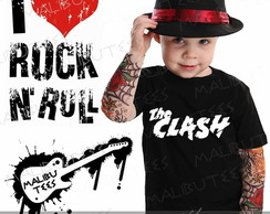 Camiseta Infantil The Clash Rock
