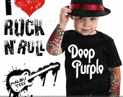 Camiseta Infantil Deep Purple Rock