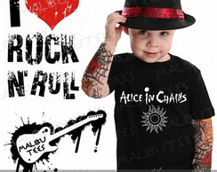 Camiseta Infantil Alice In Chains Rock