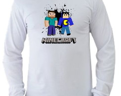Camiseta Minecraft Pac Mike Manga L. 05