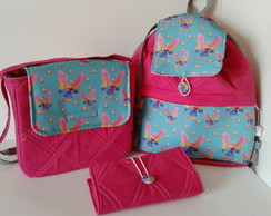 Mochila Barbie kit escolar