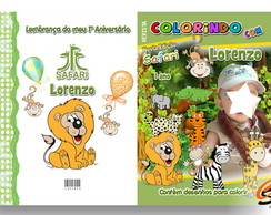 Revista de Colorir Safari