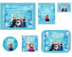 Arte Kit Digital - Frozen Azul