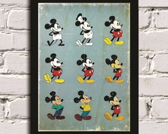 Poster com moldura Mickey Evolution