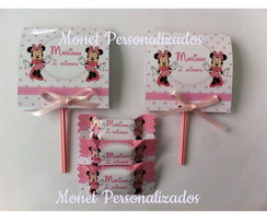 KIT 01-BALAS E PIRULITOS MINNIE ROSA