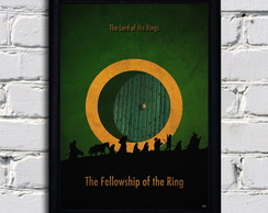 Poster com moldura Lord of the rings 10