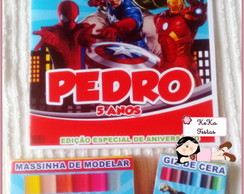 Kit colorir Super Heróis