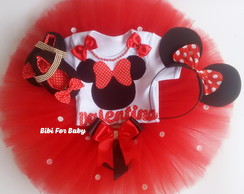 Kit fantasia minnie vermelha