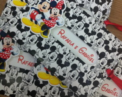 Convite Retratil Mickey e Minnie