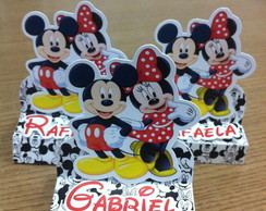 Porta chocolate Mickey e Minnie