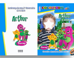 Revista de Colorir Barney